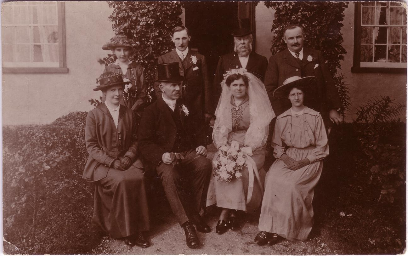 Wedding at Flax Farm Poslingford 1917